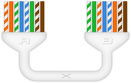 Câble Ethernet RJ45 croisé (crossover)