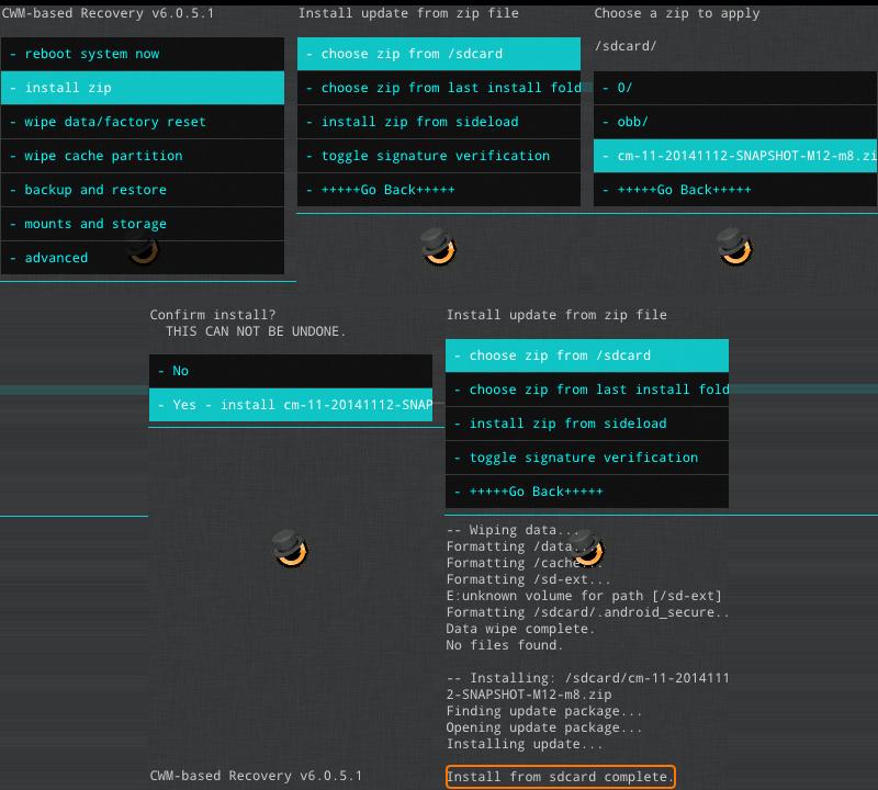 Étapes d'installation de CyanogenMod