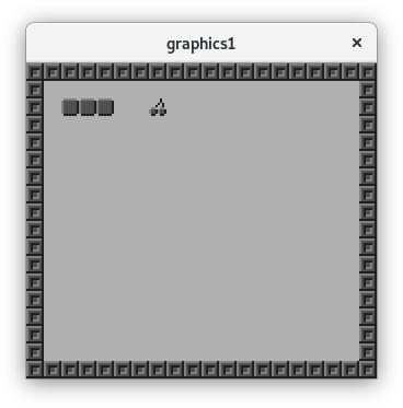 Capture d'écran du Snake dans un émulateur GameBoy