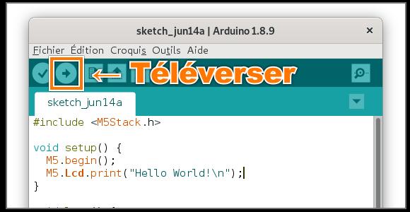 Bouton «Téléverser» sur l'IDE Arduino