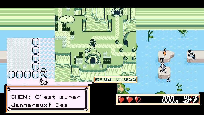 Capture d'écran des interfaces de différents jeux GameBoy