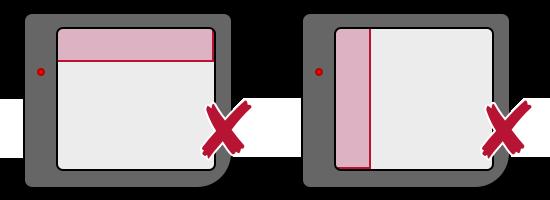 Schéma montrant les positions non-permises pour la couche Window