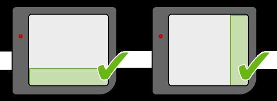 Schéma montrant les positions possibles pour la couche Window