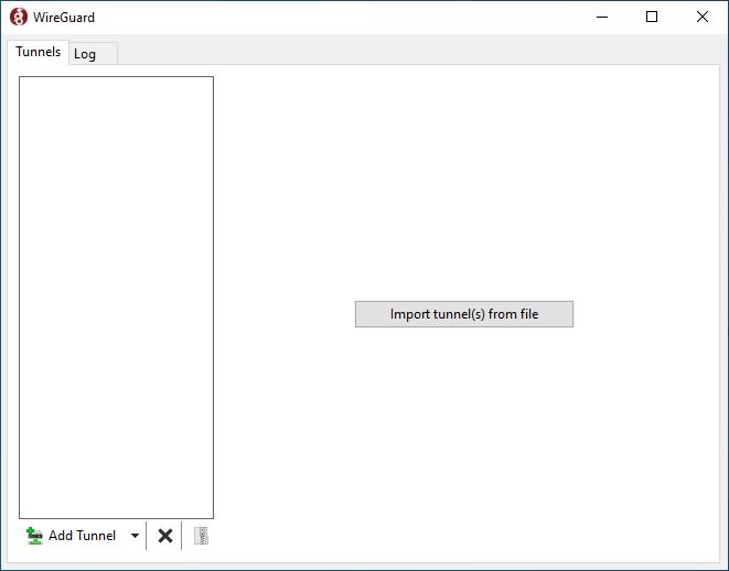 Interface graphique de WireGuard sous Windows